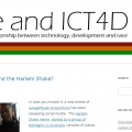 Race and ICT4D blog screengrab